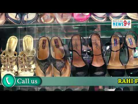 RAHI FOOTWEAR A COMPLETE FAMILY SHOWROOM SPECIALIST IN :LADIES AND KIDS || DECCAN NEWS 9 ||