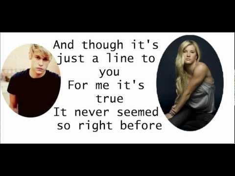 Glee - Somethin' Stupid w/ Lyrics