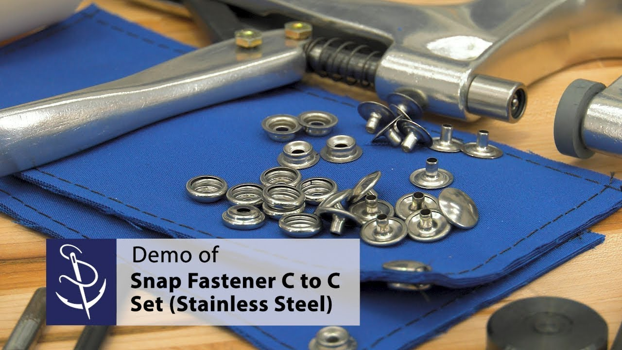 Snap Fastener Kit with 6 Complete Set 5//8 Stainless Steel Snaps Fastener