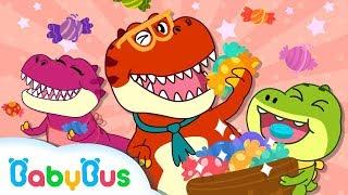❤ Funny Dinosaurs Songs for Children | Tyrannosaurus Rex Love Candies | BabyBus
