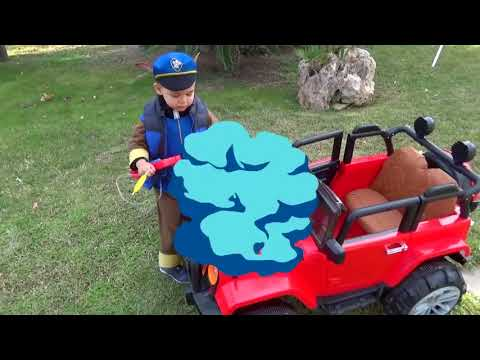 Unboxing and Assembling Fuel Station FUNNY BABY Paw Patrol repair Jeep Ride On POWER WHE Funny baby