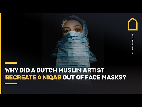 Muslim recreates niqab from face masks in protest to bans in Netherlands, Sri Lanka and Switzerland