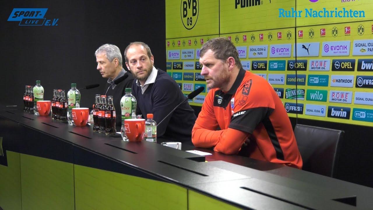 Pressekonferenz mit Lucien Favre und Steffen Baumgart