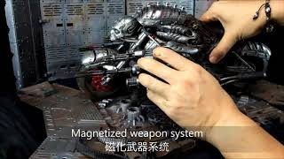 Calvin's Custom X GATE TOYS 1/6 scale MOTOPSYCLE:mGT Weapon System demo