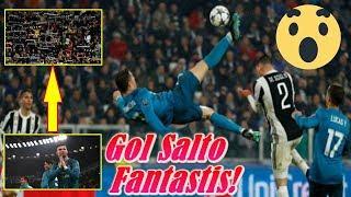 LUAR BIASA!!! Cetak Gol Salto Fantastis, Cristiano Ronaldo Diapresiasi Pendukung Juventus
