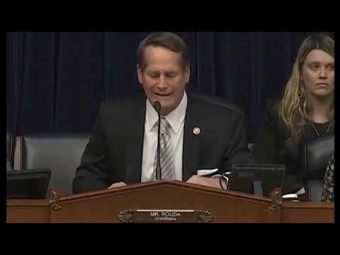 Rep. Rouda Opening: Subcommittee on Environment Hearing on PFAS Chemicals and their Risks
