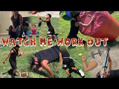 KD DA KID'S WORKOUT ROUTINE🏋🏽♂️ Watch Me Workout!!!