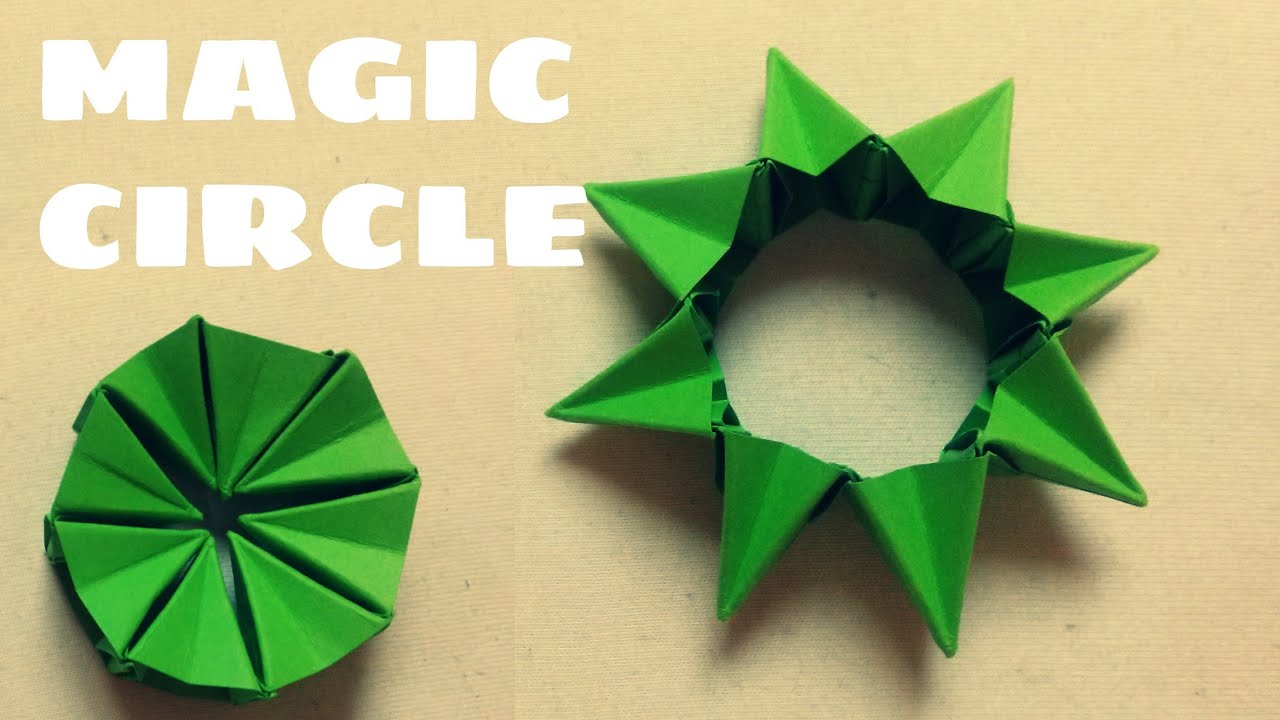 Origami Magic Flexible Circle Origami Easy Youtube