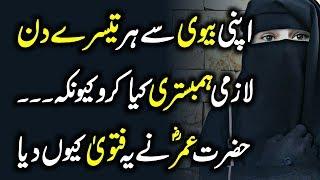 Hazrat Umar Ny Q Farmaya Keh Har 3rd Day Apni Wife K Pass Zaroor Jaaya Karo? Urdu Hindi | Urdu Lab
