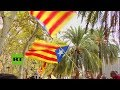 Protestas contra las detenciones de la Guardia Civil en Cataluña