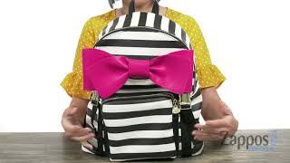 Betsey Johnson Stripe Backpack SKU: 9105145