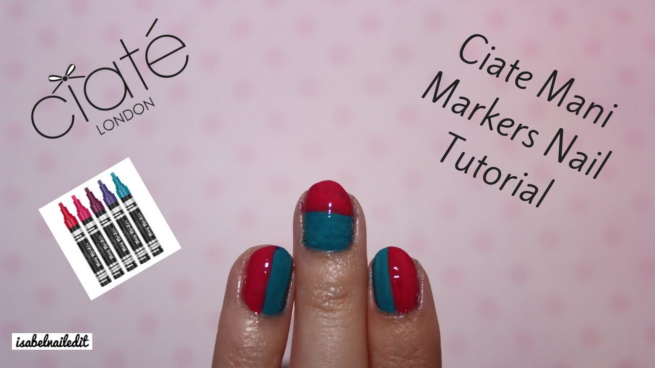 Ciate Mani Marker Nail Tutorial - YouTube