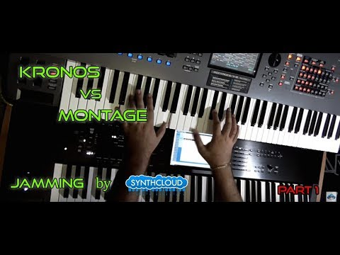 yamaha montage 7 korg kronos 2 jamming pt 1. Black Bedroom Furniture Sets. Home Design Ideas