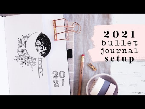 2021 Yearly Bujo Setup | How To Begin Bullet Journaling a Beginner Friendly Guide