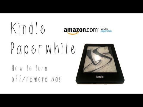 Kindle Paperwhite: How to turn off/remove ads - YouTube