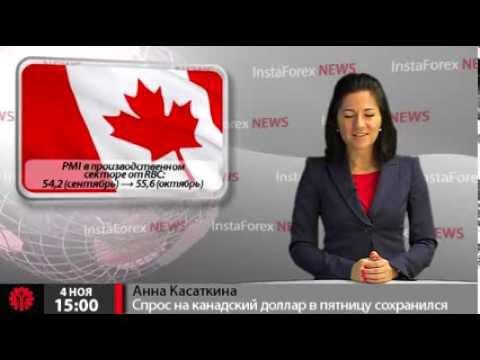 Новости InstaForex 04 ноября. Спрос на канадский доллар в пятницу сохранился