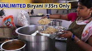Unlimited Biryani @35rs Only | Hyderabad Famous Roadside Street Food Videos | Food Bandi