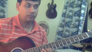 Aao sunau pyar ki ek kahani on Guitar