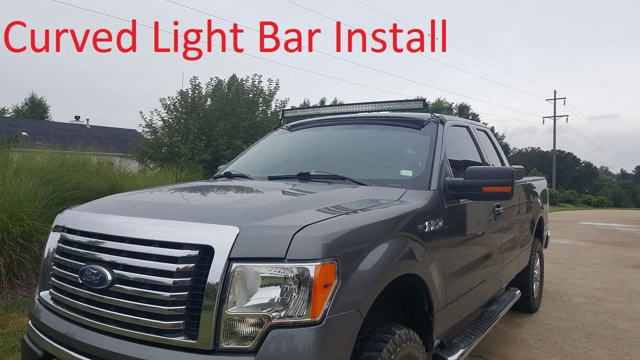 Installing a 52 curved light bar on a 2011 f150 youtube mozeypictures Gallery