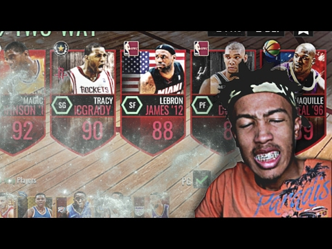ALL STAR WEEKEND ALL TIME LINEUP! SQUAD BUILDER (NBA Live Mobile)