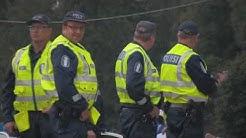 Poliisin toimintaa Allrightin miitissä 29.8.2009