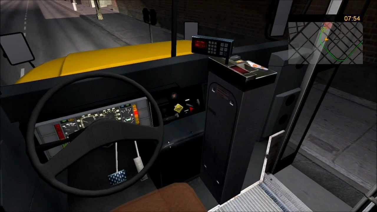 Bus and cable car simulator: 1998 blue bird international 3800.