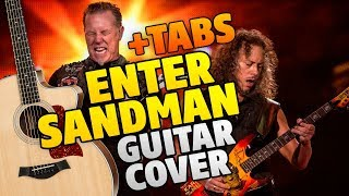 Metallica – Enter Sandman (fingerstyle guitar cover with tabs)