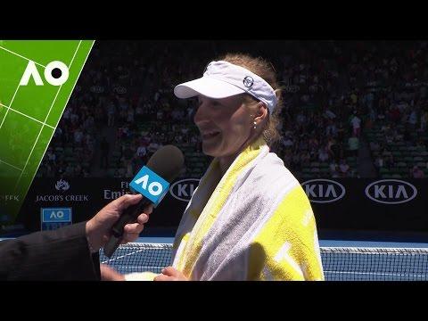 Ekaterina Makarova on court interview (3R)  | Australian Open 2017