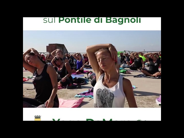 Yoga sul Pontile di Bagnoli 2019