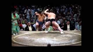 照ノ富士vs隠岐の海 大相撲平成27年秋場所 Terunofuji vs Okinoumi Sumo.