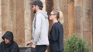 Liam Hemsworth And Miley Cyrus Sharing Shopping Duties In Malibu