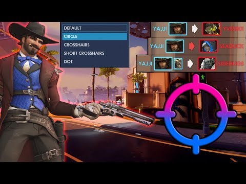how to change your crosshair in overwatch