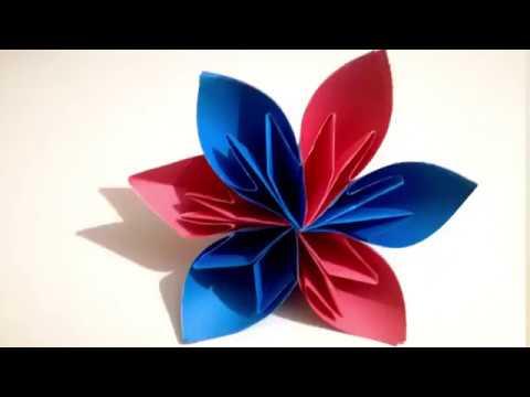How to make a Kusudama Paper Flower - DIY    Origami Kusudama Flower Craft