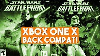 Star Wars Battlefront  Battlefront II  Xbox Backwards Compatibility  Xbox One X Footage