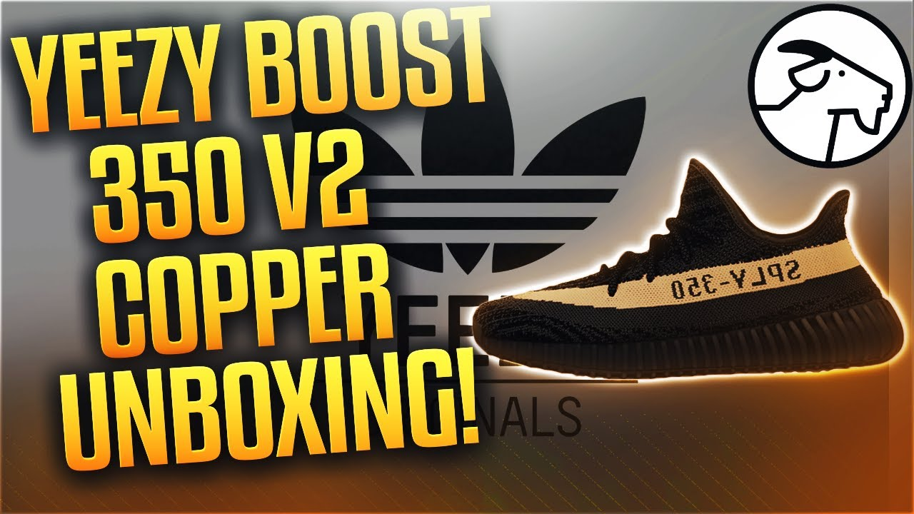 3a377744aad44 Adidas Yeezy Boost 350 V2 Copper by GOAT App Unboxing! - YouTube