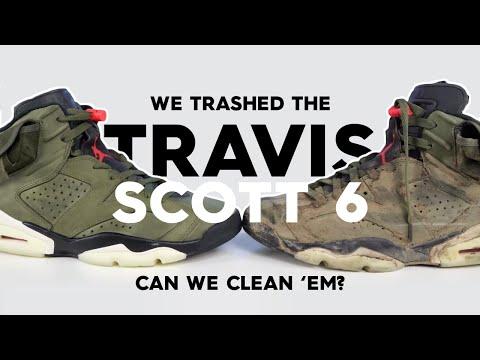 Saving Jordan 6 Travis Scott From DISGUSTING Mud Sludge (Cleaning)
