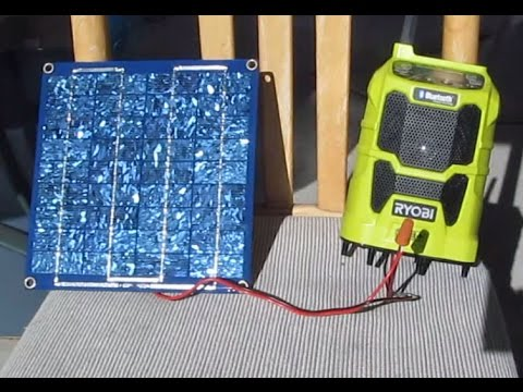 Tool hack & Review: Solar Powered Ryobi P742 18V Wireless Bluetooth Radio Cordless Speaker