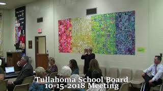 Tullahoma School Board meeting 10-15-2018