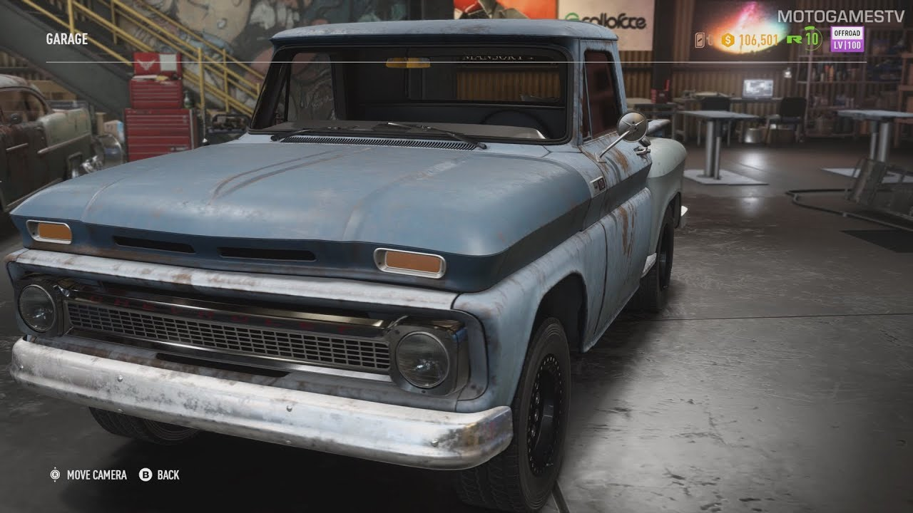 need for speed payback chevrolet c10 stepside pickup 1965 derelict guide [ 1280 x 720 Pixel ]