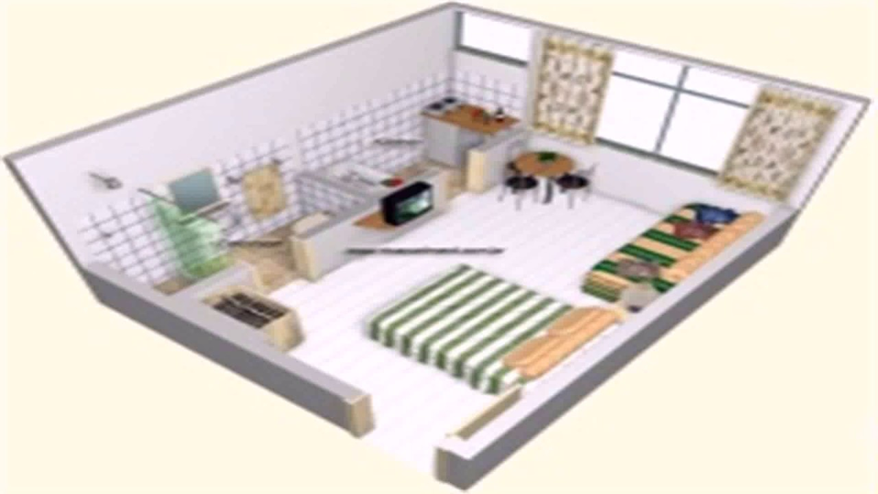 Floor Plan One Room Apartment