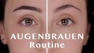 Augenbrauen Zupfen, Schneiden, Schminken | Augenbrauen Routine | Hatice Schmidt