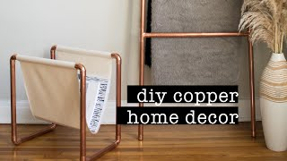 DIY Copper Ladder + Magazine Rack // DIY Home Decor | XO, MaCenna