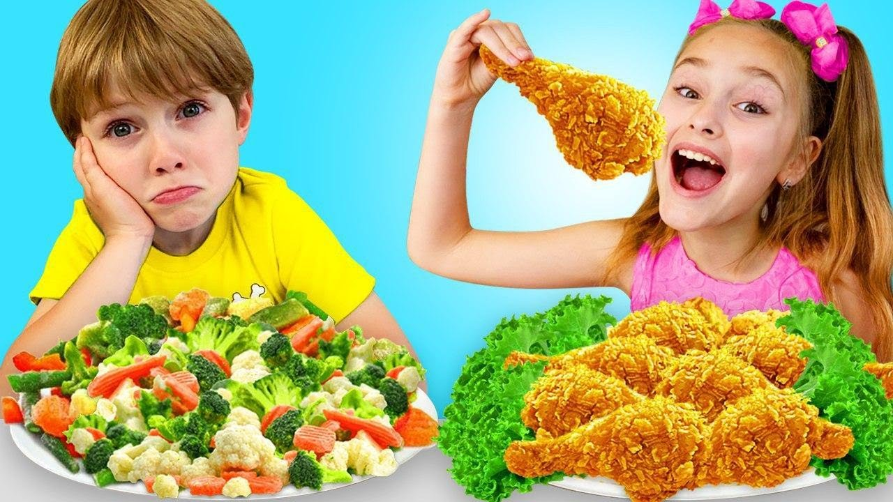 Sasha and Yarik Play at School and Eating a Lot of Not Healthy Food | Funny Food Video for Kids
