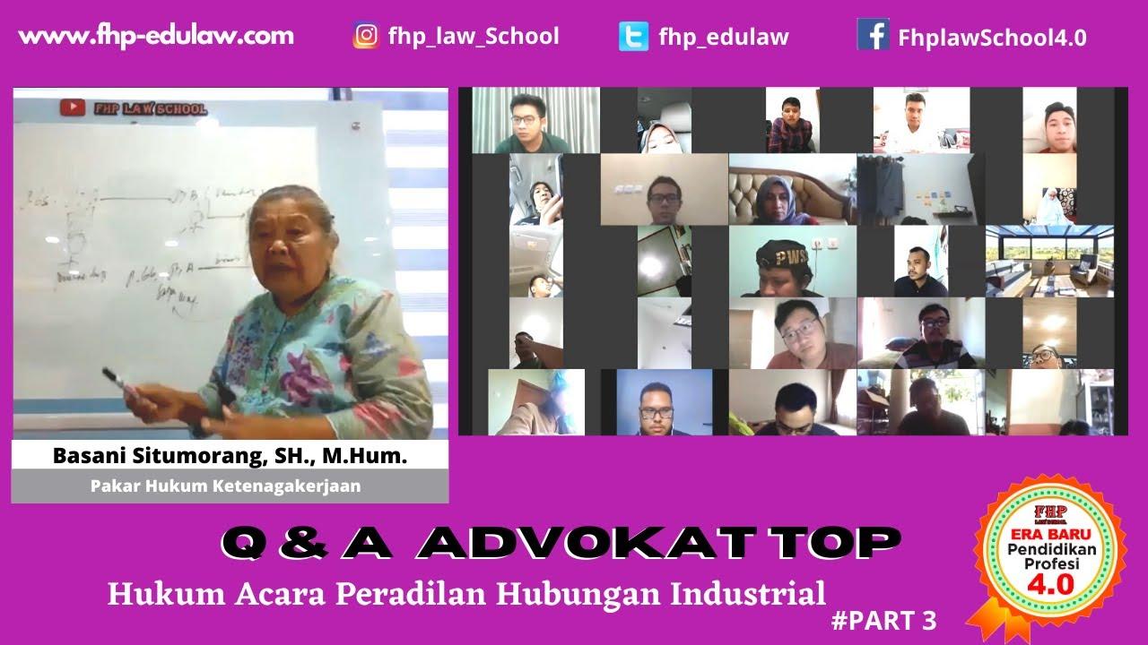 Q & A :Hukum Acara Peradilan Hubungan Industrial. #Part3 | Basani Situmorang, S.H., M.Hum