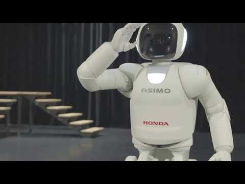 Asimo robot runs, hops and uses sign language
