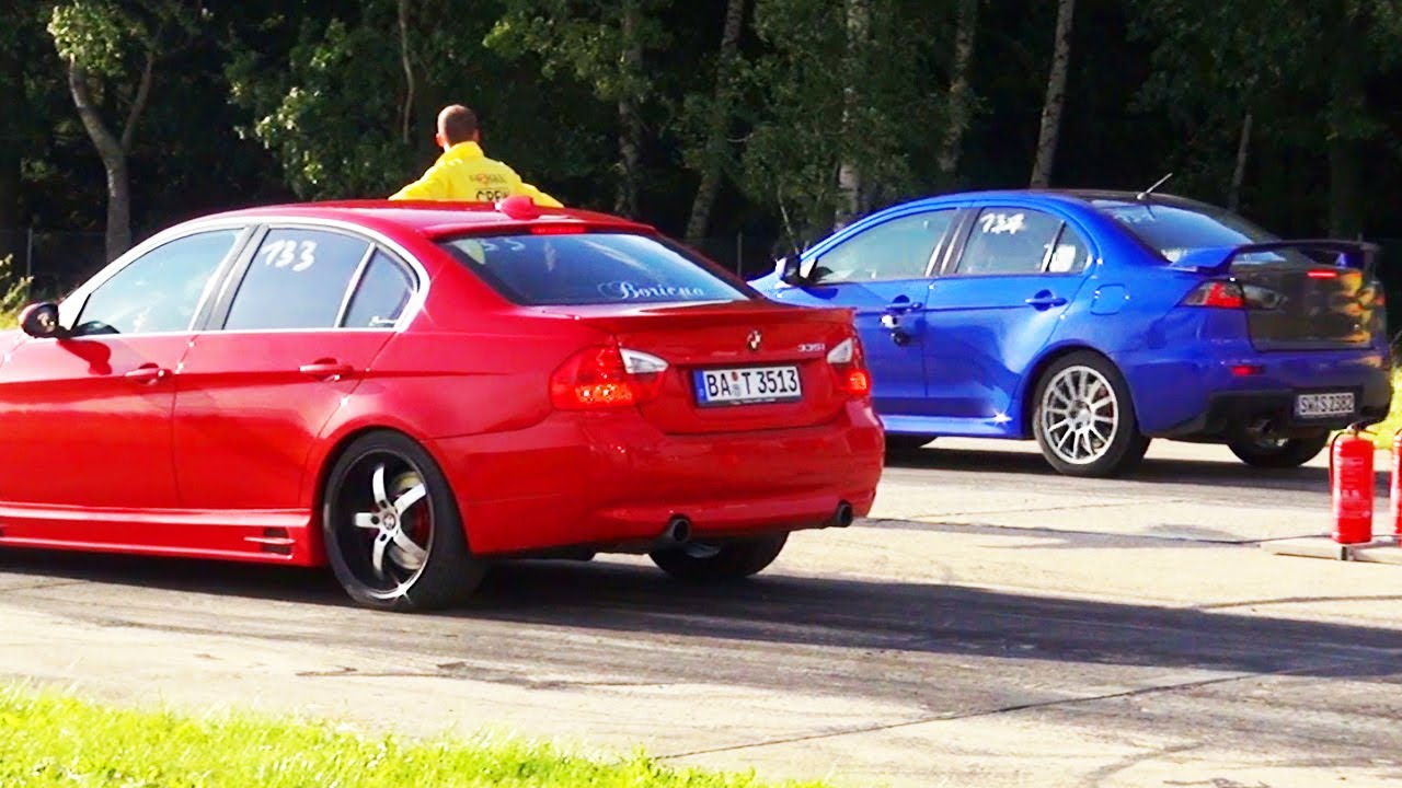 bmw-335i-vs-mitsubishi-lancer-evo-evolution-10-x-1-4-mile-viertelmeile-race-rennen