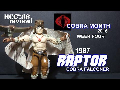 HCC788 - 1987 RAPTOR - Cobra Falconer - COBRA MONTH week 4! Vintage G.I. Joe toy!