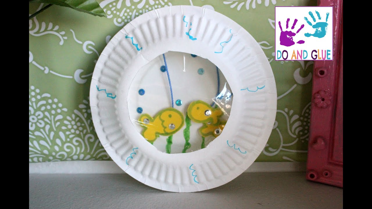 Kid craft How to Make a Paper Plate Aquarium - YouTube