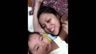 Baby dont want a kiss from mama:D