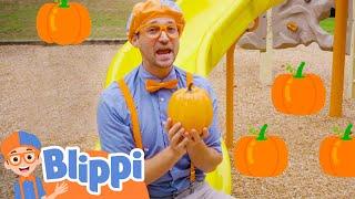 Blippi Visits Pumpkin Playground | Halloween Videos For Kids